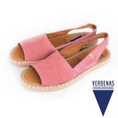 【VERBENAS】ALTEA阿爾特亞牛皮草編露趾涼鞋/休閒鞋  粉色(061-PIN)