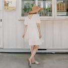 Queen Shop【01085170】純白蕾絲布繡花公主袖兩面穿洋裝*現+預*