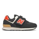 New Balance 574 W 童鞋 中童 慢跑 復古 麂皮 穩定 黑 紅【運動世界】PV574ML2