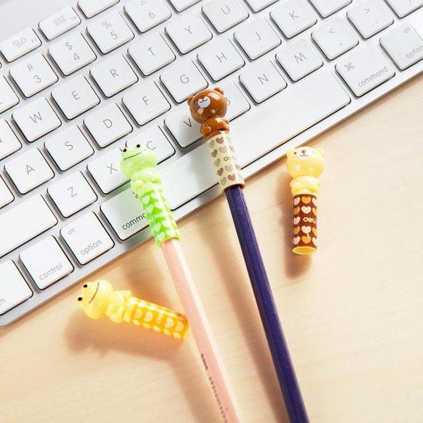 [超豐國際]得力 兒童鉛筆套鉛筆保護套四個裝 小學生寫字延長筆蓋筆帽握筆