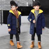 男童羽絨棉服外套兒童中大童冬裝中長款棉衣男孩加厚棉襖 概念3C旗艦店