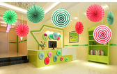 【韓風童品】扇子形裝飾   派對聚會掛飾 拍攝背景裝飾 櫥窗裝飾佈置  婚禮節慶佈置  兒童房裝飾