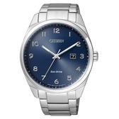 CITIZEN 時尚風格光動能腕錶/藍面/BM7320-87L