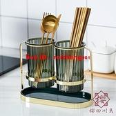 北歐筷子筒家用廚房筷子置物架收納盒瀝水筷筒筷桶【櫻田川島】
