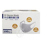 3D立體防護口罩 S/M/L 100入/盒- 任選【i -優】
