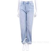 BURBERRY 直版剪裁石洗水藍色高腰牛仔褲 1820616-23