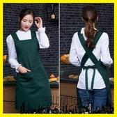 .韓版時尚可愛圍裙工作服美甲店美容師母嬰超市餐廳咖啡店服務員