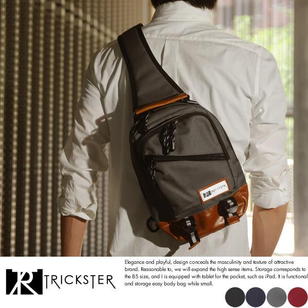 現貨配送【TRICKSTER】日本品牌 斜背包7個口袋 腳踏車包 B5 單肩背包 多夾層機能包【tr1454】