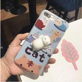 [24hr-現貨快出] iphone 6 6s 7 plus可愛 軟趴趴 立體 貓咪 手機殼 情侶 防摔 軟套 女款 紓壓 療癒