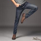 男士牛仔褲春款直筒修身青少年韓版潮流商務休閒褲長褲子wl7082[bad boy時尚]
