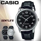 CASIO手錶專賣店 卡西歐  MTP-V001L 男錶  數字 生活防水 礦物玻璃鏡面  皮革錶帶