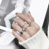 日韓版S925純銀戒指X交叉開口光面立體開口指環簡約設計款銀戒子     西城故事