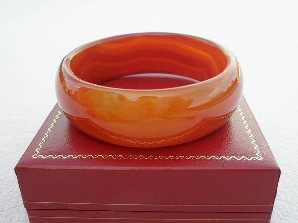 【歡喜心珠寶】【天然瑪瑙19.3圍手環】「附保証書」佛教七寶之一瑪瑙手鐲: 改運避邪,超低價!