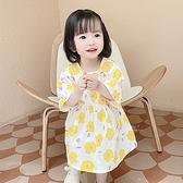 少女花朵印花短袖連身洋裝 童裝 洋裝