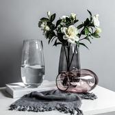 伊人 玻璃 透明花瓶 餐桌裝飾 擺件