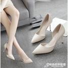 高跟鞋女學生韓版細跟新款百搭鞋子女韓版時...