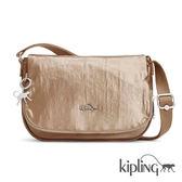 Kipling 浪漫香檳金側背包-中