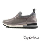 【Joy&Mario】素面燙點布運動休閒鞋 - 75009W DK GREY