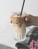 玻璃杯 網美臟臟咖啡杯 冰拿鐵玻璃杯【匯美優品】