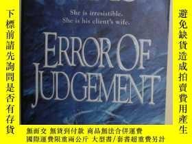 二手書博民逛書店【英語】英文原版小說《罕見Error of judgement