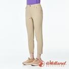【wildland 荒野】女 彈性輕薄抗UV九分褲『卡其』0A91319 戶外 休閒 運動 露營 登山 吸濕 排汗 快乾