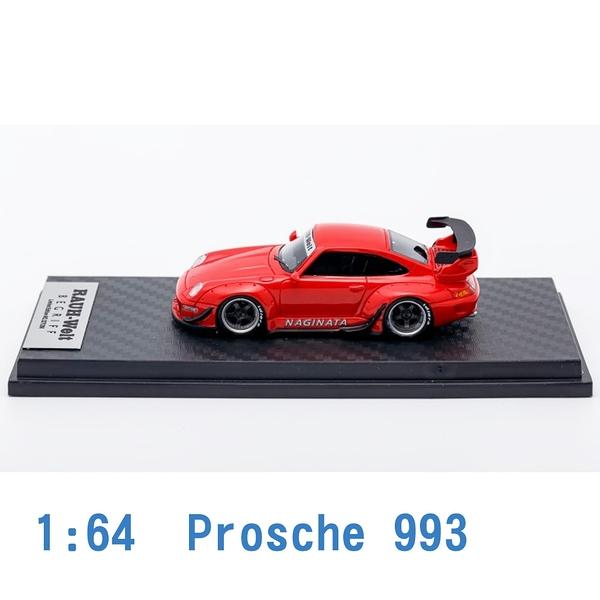 Scale Box 1/64 模型車 Proschi 保時捷 993 SB640006H 紅色