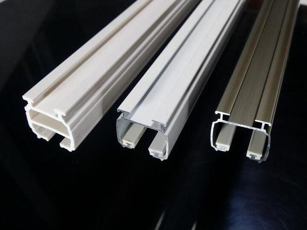 食尚玩家 納米窗簾軌道直軌窗簾杆納米滑軌單雙導軌羅馬杆滑道配件齊全納米雙軌