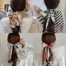 法式優雅絲巾復古高級扎頭繩發箍發繩ins發帶女綁發飄帶頭飾外出 小艾新品