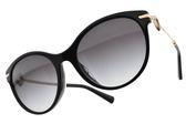 BVLGARI 太陽眼鏡 BG8210BF 501-8G (黑金-漸層灰鏡片) 閃亮貓眼造型款 墨鏡 #金橘眼鏡