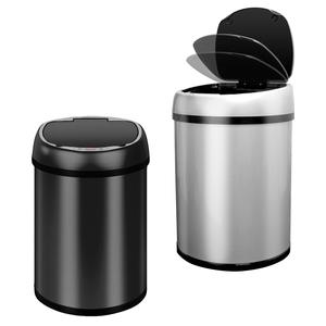 全自動智慧感應垃圾桶銀色