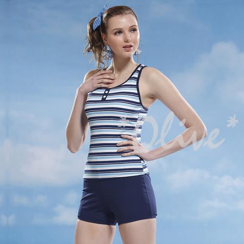 ☆小薇的店☆泳之美品牌【清新配色條紋】時尚二件式泳裝特價690元 NO.8322(S-XL)