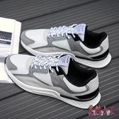 網鞋低幫運動鞋 秋男透氣輕便舒適男鞋跑步鞋 BF14407【花貓女王】