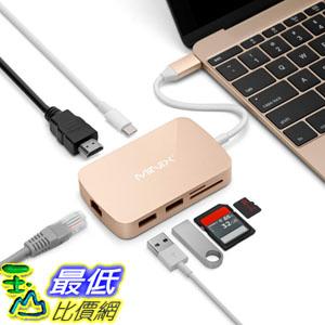 [8玉山最低比價網] 美國代購 MINIX NEO C USB-C 多功能集線器 with VGA / RJ45網路 - Gold (適用 MacBook)