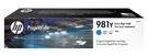L0R13A HP 981Y 高印量藍色墨水匣 適用 PageWide 556/586