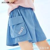 女童牛仔褲夏季外穿兒童中大童女孩洋氣褲子寬鬆新款韓版童裝短褲快速出貨