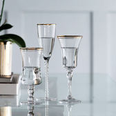 金邊水晶杯 紅酒杯 雞尾酒杯 宴會香檳杯