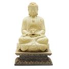 釋迦牟尼佛{高19公分}鐵丸石【十方佛教...