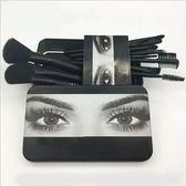 化妝刷美國 外貿12支化妝刷子套裝初學者 鐵盒便攜式可愛化妝刷子-大小姐韓風館