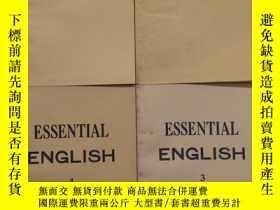 二手書博民逛書店ESSENTIAL罕見ENGLISH (1-4冊)Y165191
