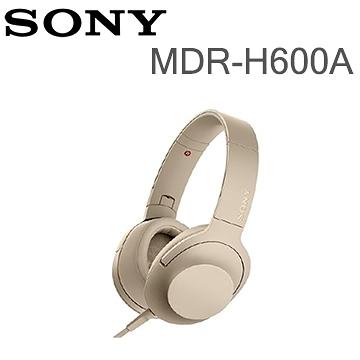 【SONY 索尼】MDR-H600A Hi-Res 耳罩式耳機(公司貨)