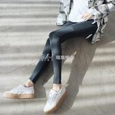 打底褲女外穿韓版純棉緊身顯瘦拼接加厚九分大碼小腳秋褲  瑪奇哈朵
