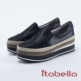 ★2018 春夏新品★itabella.閃耀星空厚底休閒鞋(8208-90銀色)