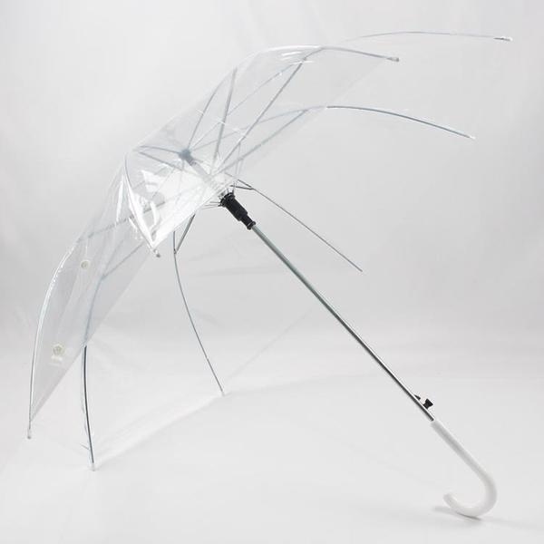 透明雨傘長柄網紅男女小清新個性廣告低價批量透明加厚 【蜜斯蜜糖】