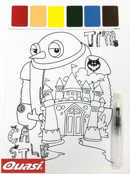 美國 Quasi Paint With Water 著色趣 水筆彩繪/塗鴉 繪圖板 - CS2001 機器人款