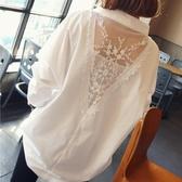 雪紡白襯衫女設計感小眾2020新款中長款寬鬆垂感胖MM外穿百搭上衣 韓國時尚週