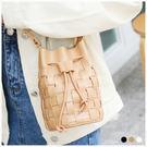 斜背包-夏日編織束口斜背水桶小包-共3色-A17172786-天藍小舖