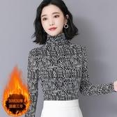 加絨打底衫女長袖2020新款冬季高領修身保暖上衣冬天內搭加厚T恤
