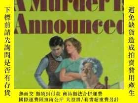 二手書博民逛書店英文原版書罕見a murder is announcedY339680
