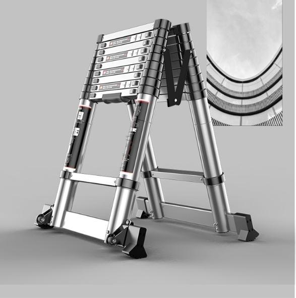 伸縮梯子人字梯家用摺疊梯鋁合金加厚多功能梯升降樓梯工程梯便攜H【快速出貨】