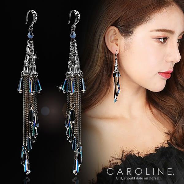 《Caroline》★韓國熱賣造型時尚 奢華、華麗設計感耳環70588
